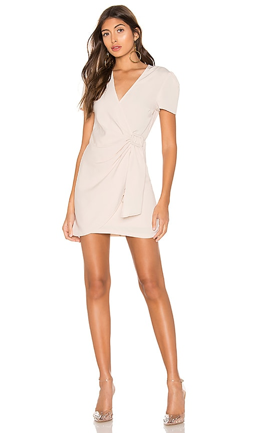 Dione Buckle Wrap Mini Dress by Superdown