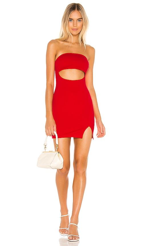 Reyna Strapless Cutout Dress by Superdown