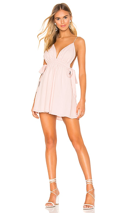 2021808bba43 superdown Laney Ruched Mini Dress in Light Pink | REVOLVE