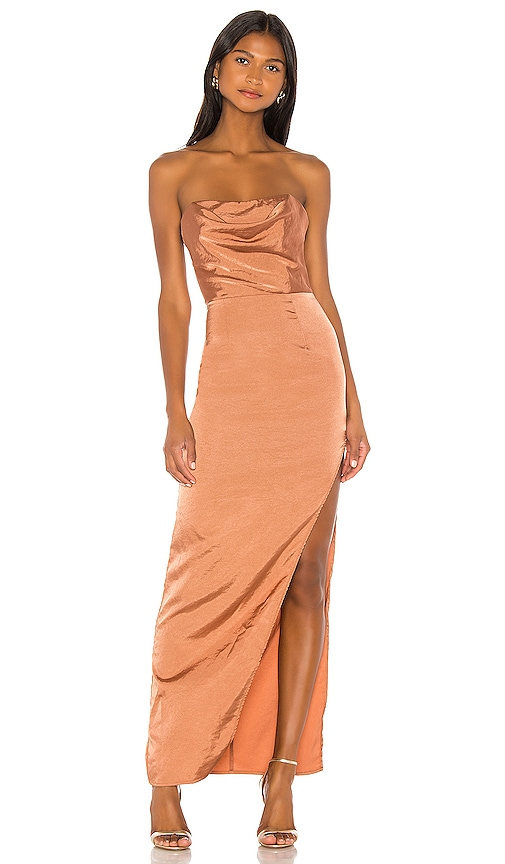 Farah Satin Maxi Dress