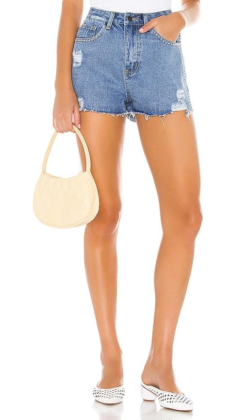 Angelica Distressed Denim Shorts
