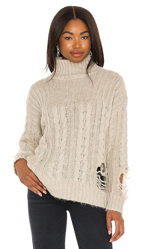Superdown CORIN DISTRESSED SWEATER