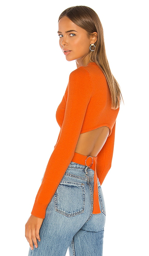 Iris Cut Out Back Sweater