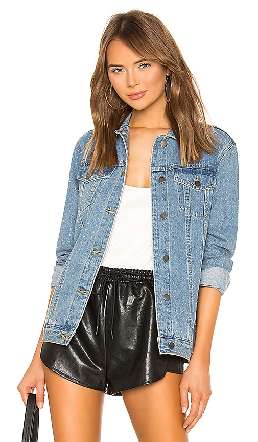 Alyssa Crystal Denim Jacket