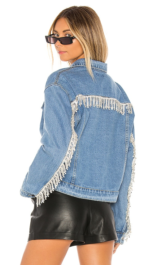 Raya Rhinestone Fringe Jacket