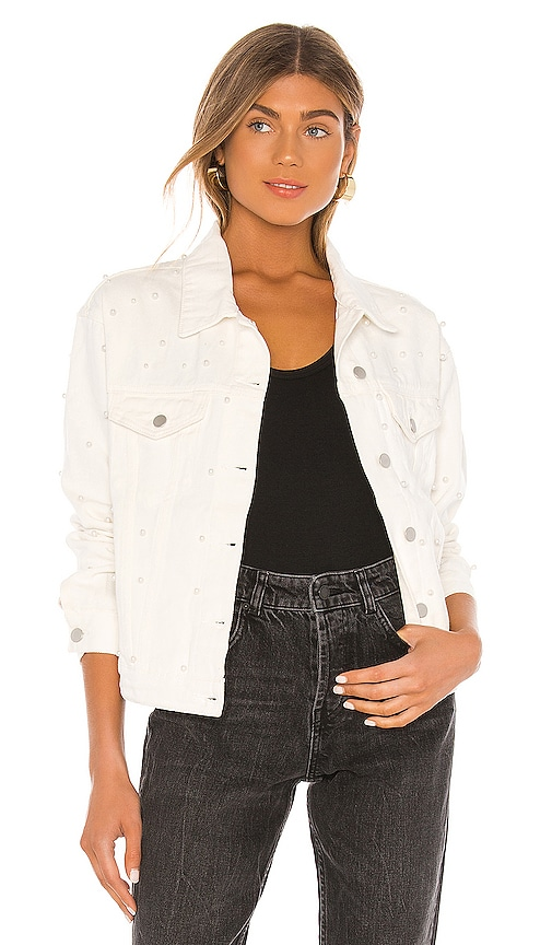 Pearl Denim Jacket by superdown, available on revolve.com for $61 Kendall Jenner Outerwear SIMILAR PRODUCT