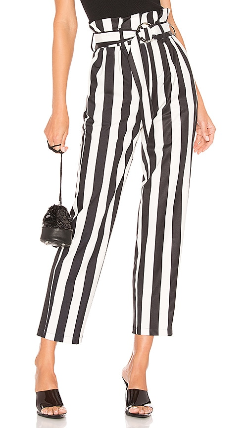 Pippa Belted Striped Pants