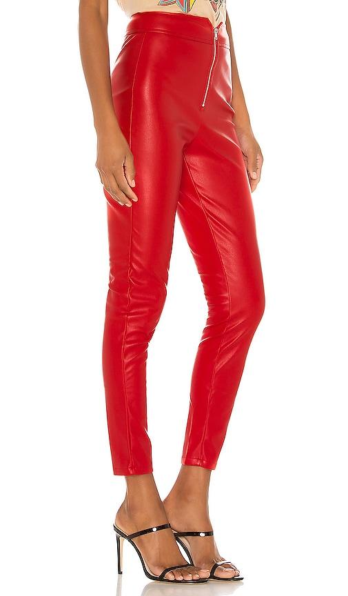 Superdown Shonda Red Faux Leather Pants