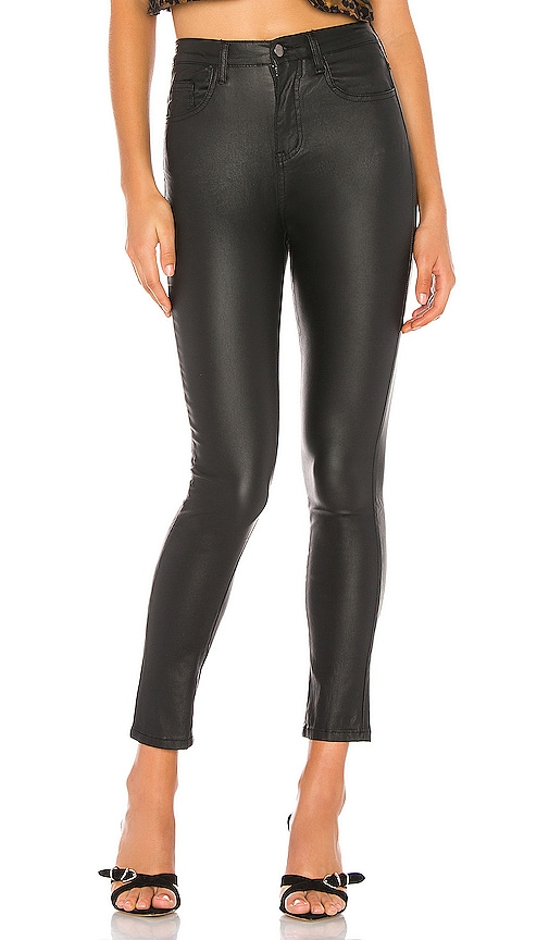 Deandra Coated Faux Leather Pant