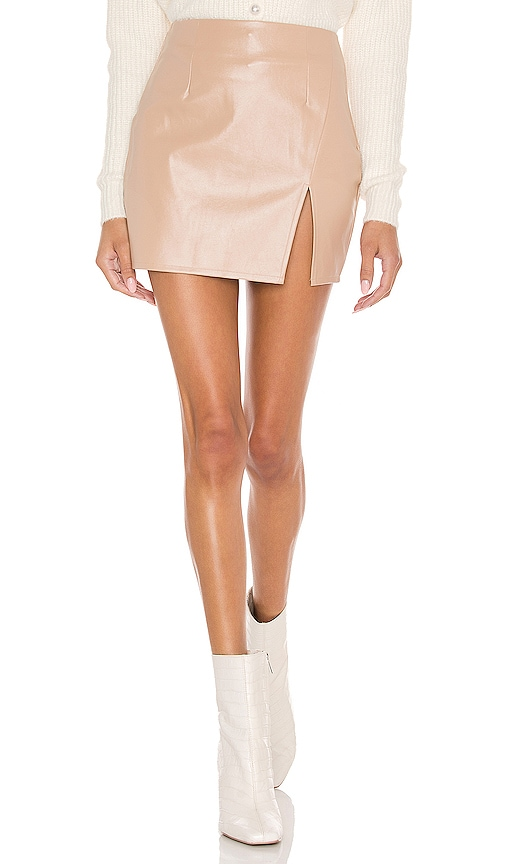Superdown Leathers TRINITY FAUX LEATHER SKIRT