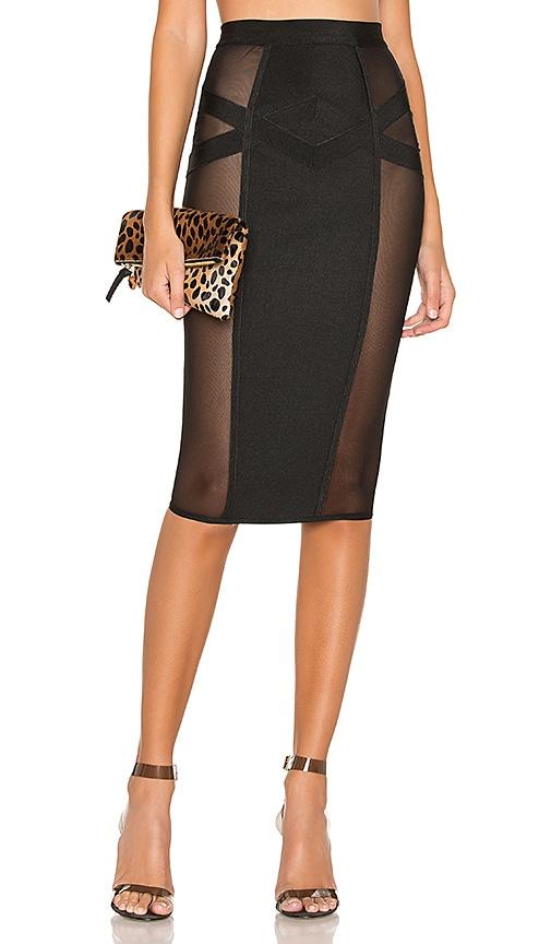 6f3e163cf8 superdown Darya Side Mesh Skirt in Black   REVOLVE