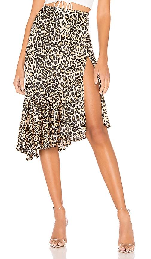 Gabriela Ruffle Midi Skirt