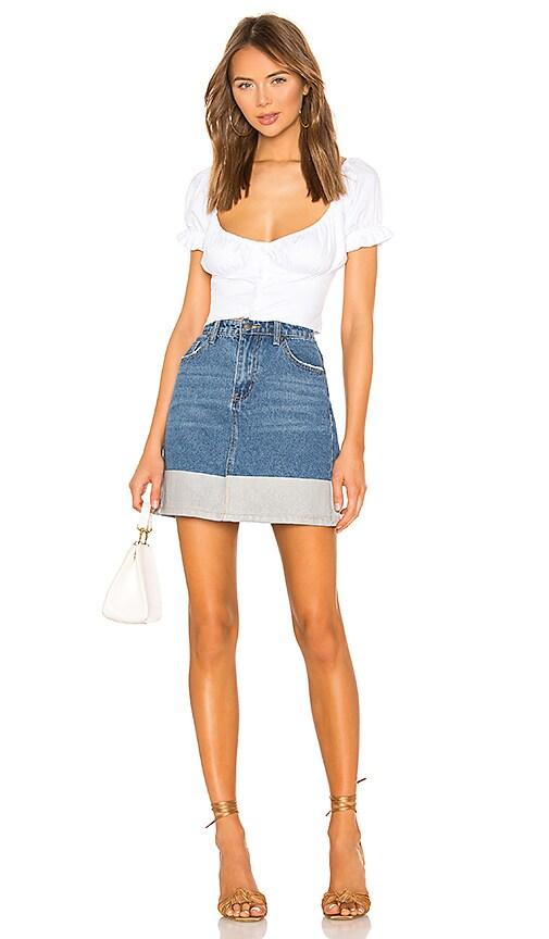 Victoria Denim Skirt by Superdown