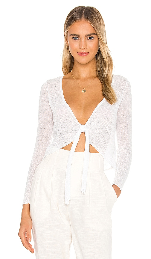 L*space LIV TIE FRONT KNIT TOP