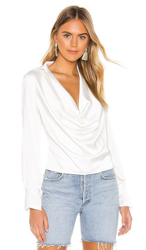 Tabbie Drape Plunge Top