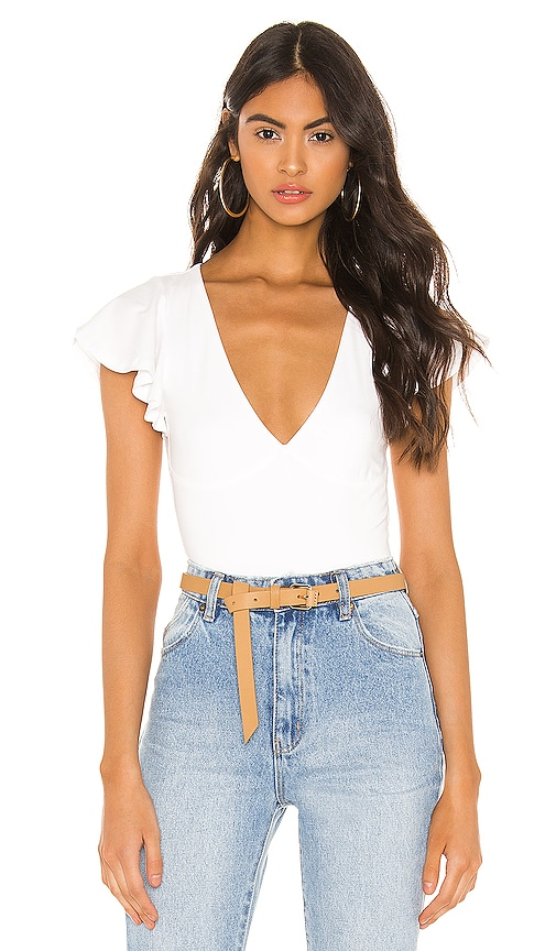 Elana Flutter Sleeve Bodysuit