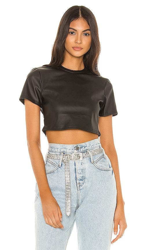 Jeneane Faux Leather Top