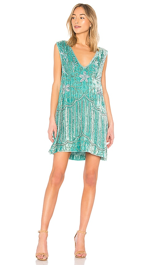 Spell & The Gypsy Collective Elsa Sequin Dress in Sage