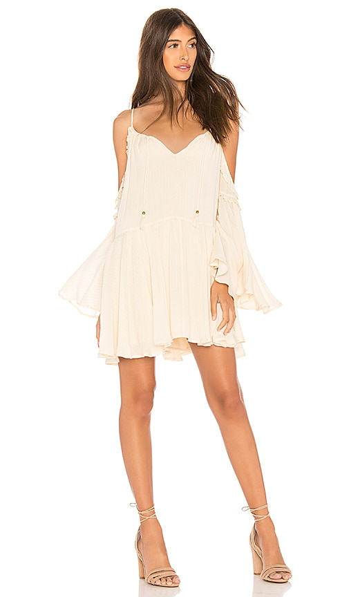 Spell & The Gypsy Collective Florence Mini Dress in Cream