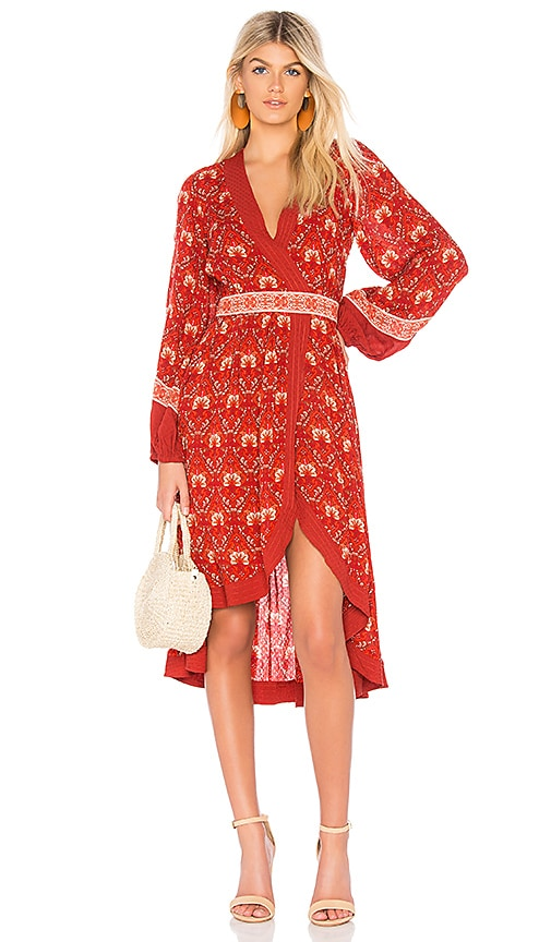 Spell & The Gypsy Collective Jewel Soiree Dress in Red