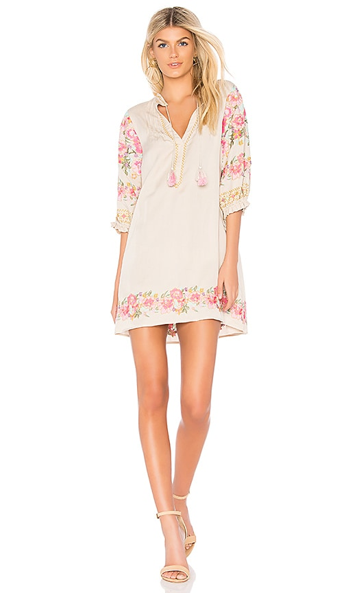 Spell & The Gypsy Collective Cleo Tunic Dress in Beige