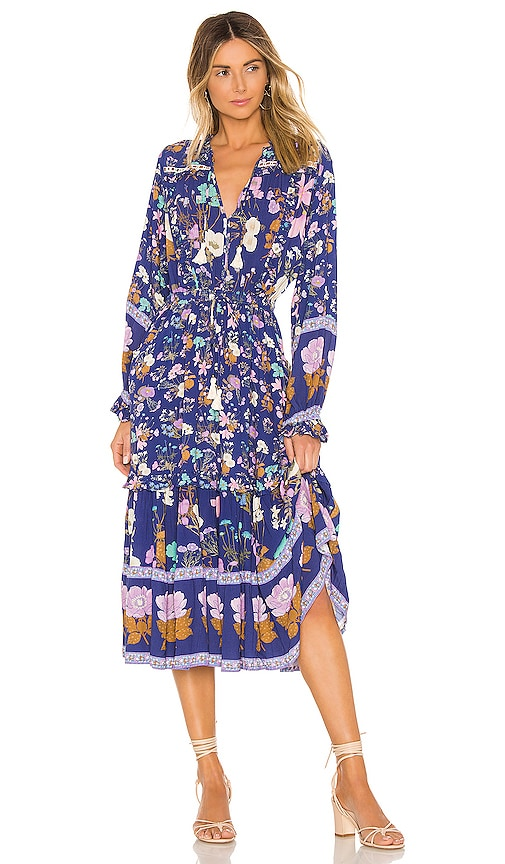 Wild Bloom Midi Dress