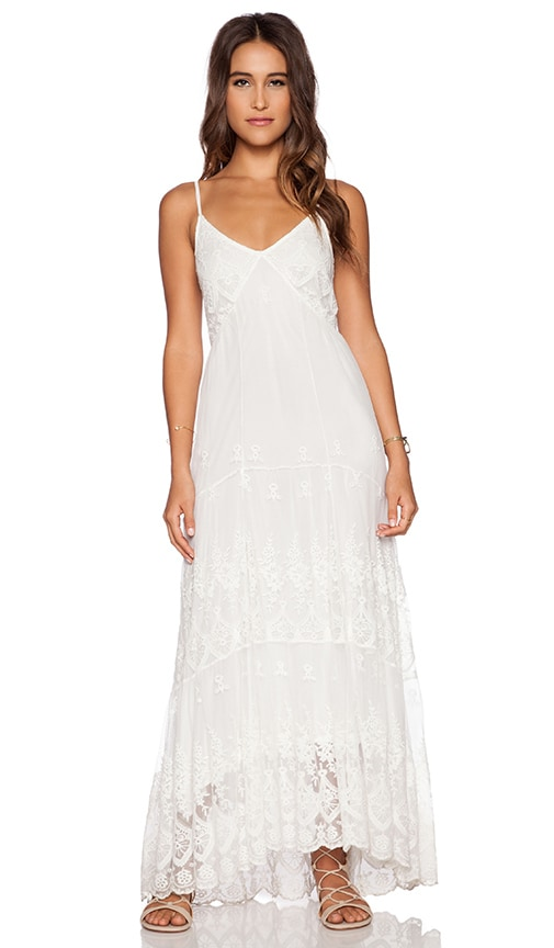 Spell & The Gypsy Collective Ophelia Maxi Dress in White | REVOLVE