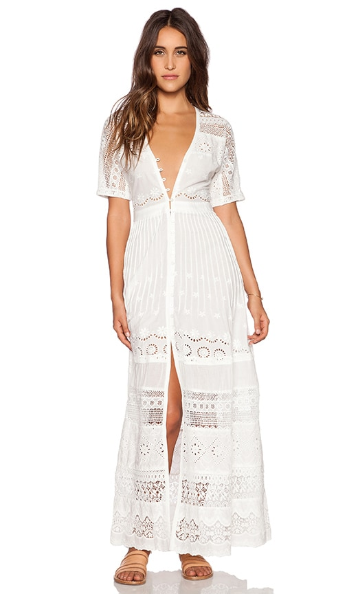 Spell & The Gypsy Collective Sahara Lace Duster in Off White | REVOLVE