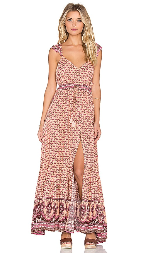 Spell & The Gypsy Collective Sunset Road Maxi Dress in Peach