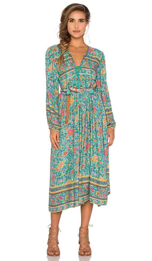 75e647dd15e Spell The Gypsy Collective Folk Town Boho Dress In Turquoise Revolve