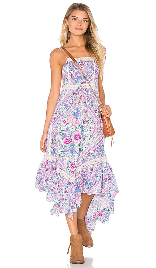 Spell & The Gypsy Collective Babushka Midi Dress in Lavender