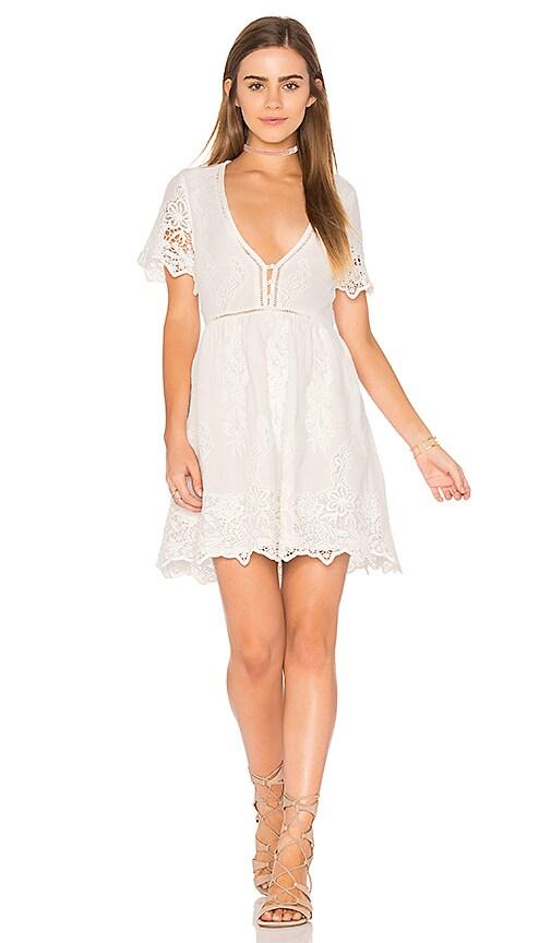 Spell & The Gypsy Collective Magnolia Mini Dress in White