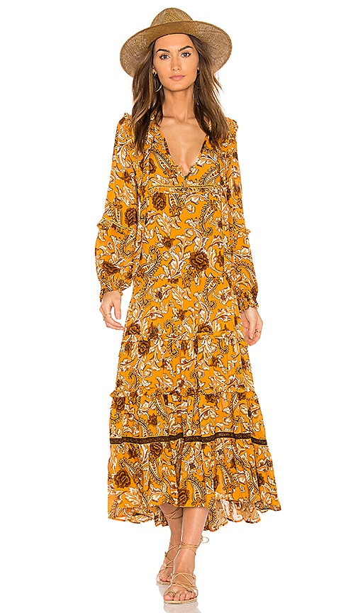 Spell & The Gypsy Collective Etienne Maxi Dress in Yellow