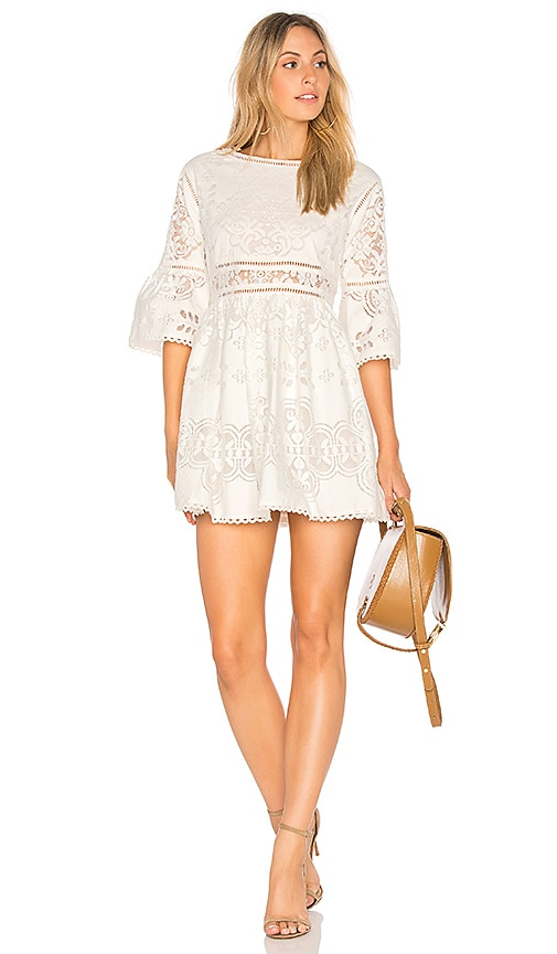 Spell & The Gypsy Collective Clover Lace Mini Dress in White | REVOLVE