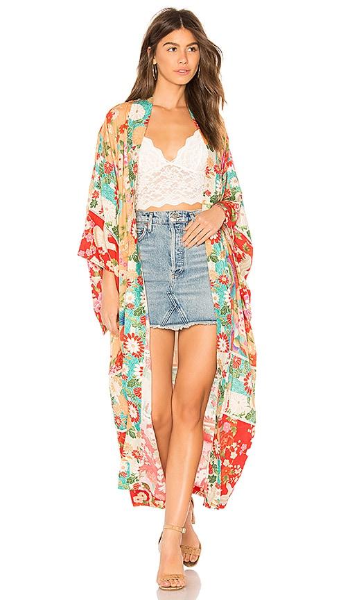 3d1585007 Delilah Patchwork Maxi Kimono. Delilah Patchwork Maxi Kimono. Spell & The Gypsy  Collective