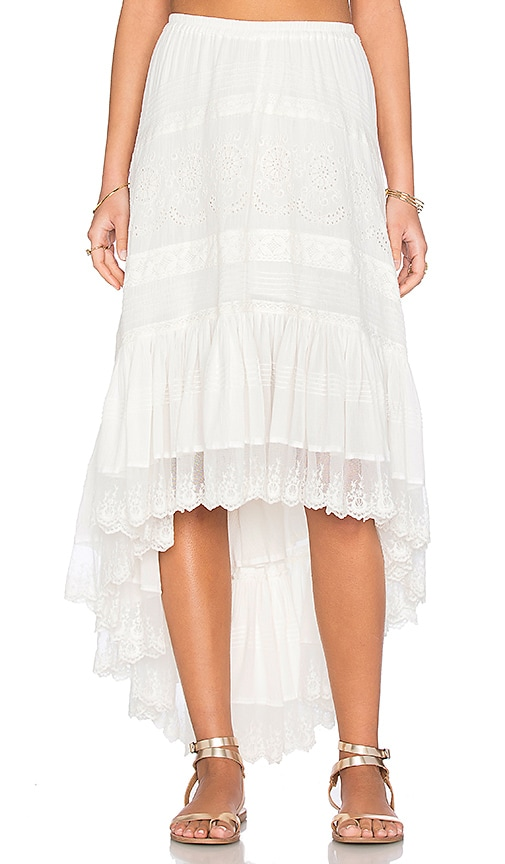 Spell & The Gypsy Collective Boho Bella Skirt in White