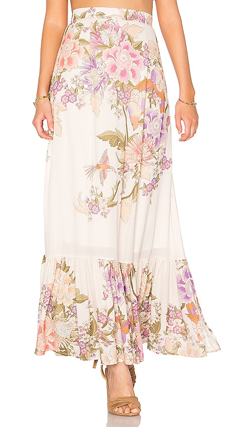 Spell & The Gypsy Collective Blue Skies Split Skirt in Cream