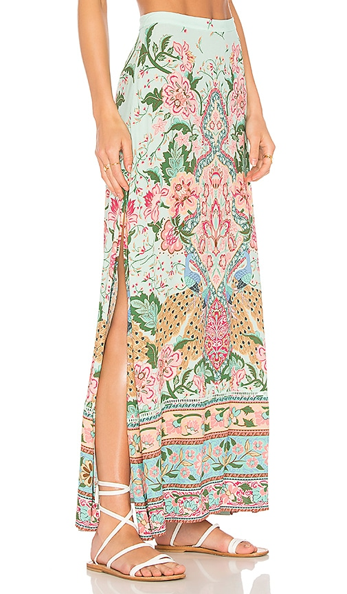 Spell & The Gypsy Collective Lotus Maxi Skirt in Mint