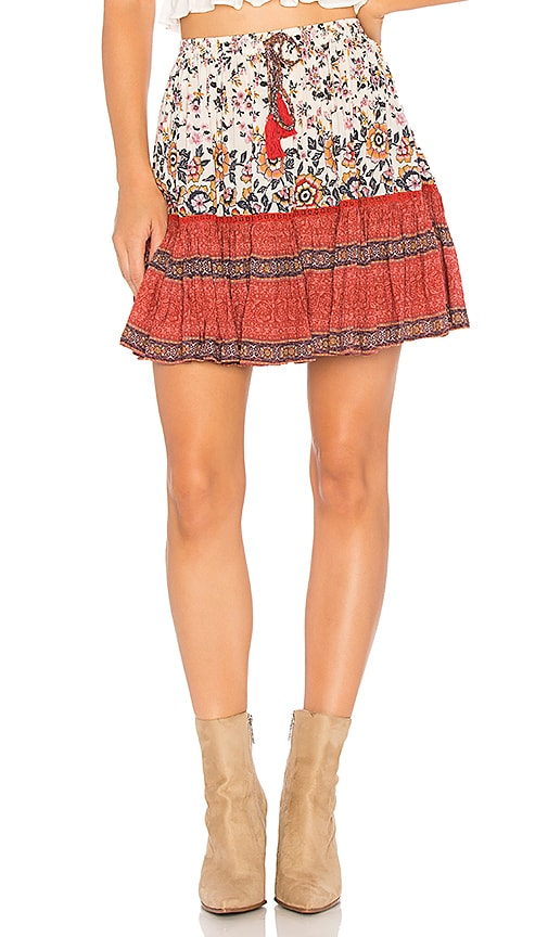 Spell & The Gypsy Collective Boho Mini Skirt in Pink