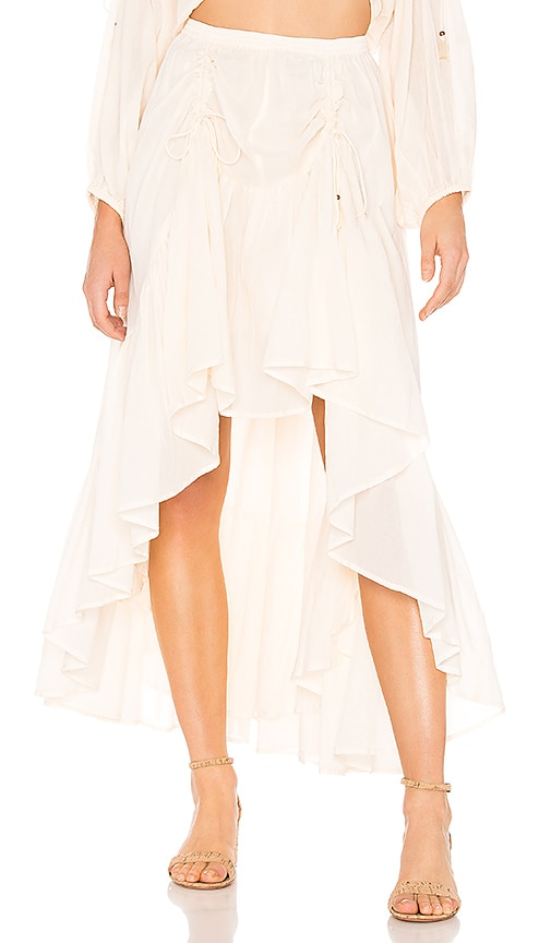 Seashell Organic Ruched Skirt