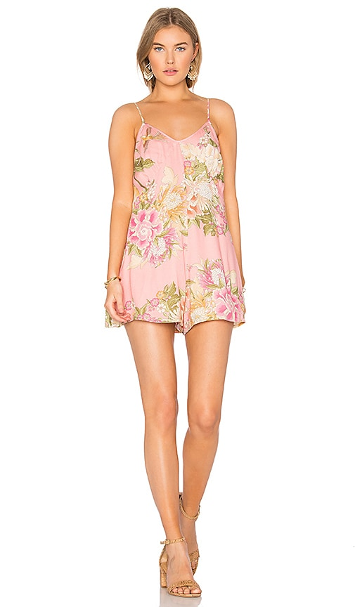 36799ddae019 Spell   The Gypsy Collective Blue Skies Romper Slip in Candy