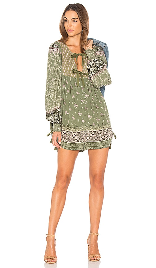 866def3bcee Spell   The Gypsy Collective Lionheart Romper in Olive Grove