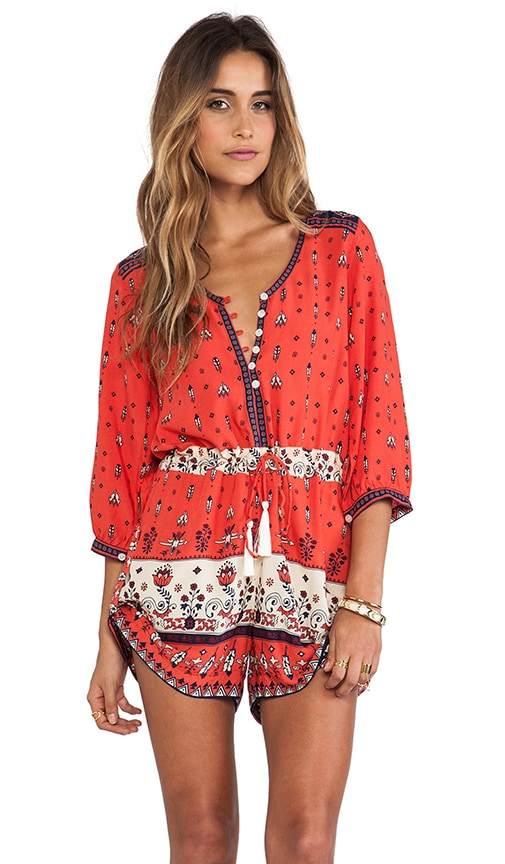 cb00231444 Spell   The Gypsy Collective Desert Wanderer Playsuit in Sunset ...