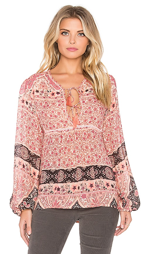 Spell & The Gypsy Collective Aloha Fox Blouse in Watermelon