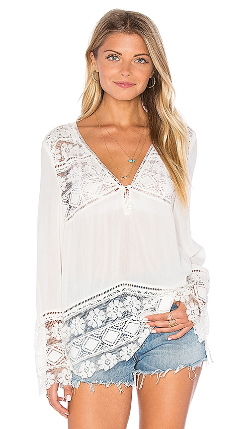 Spell & The Gypsy Collective Sienna Lace Top in White