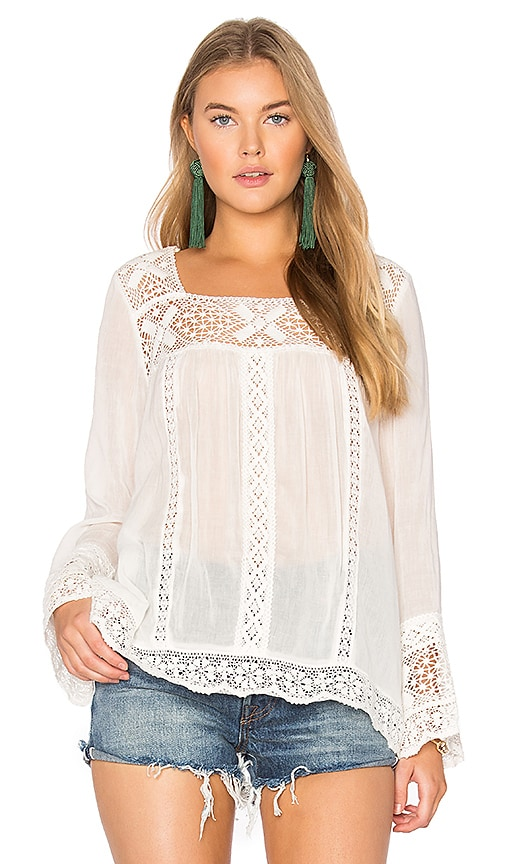 Spell & The Gypsy Collective Sunday Feels Blouse in White