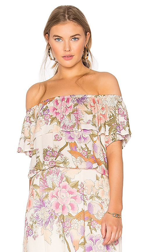 Spell & The Gypsy Collective Blue Skies Off Shoulder Top in Cream