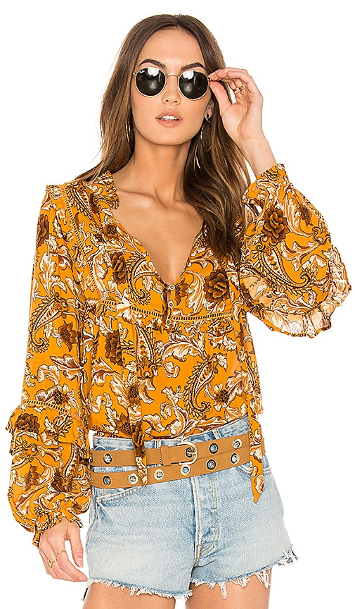 Spell & The Gypsy Collective Etienne Blouse in Mustard