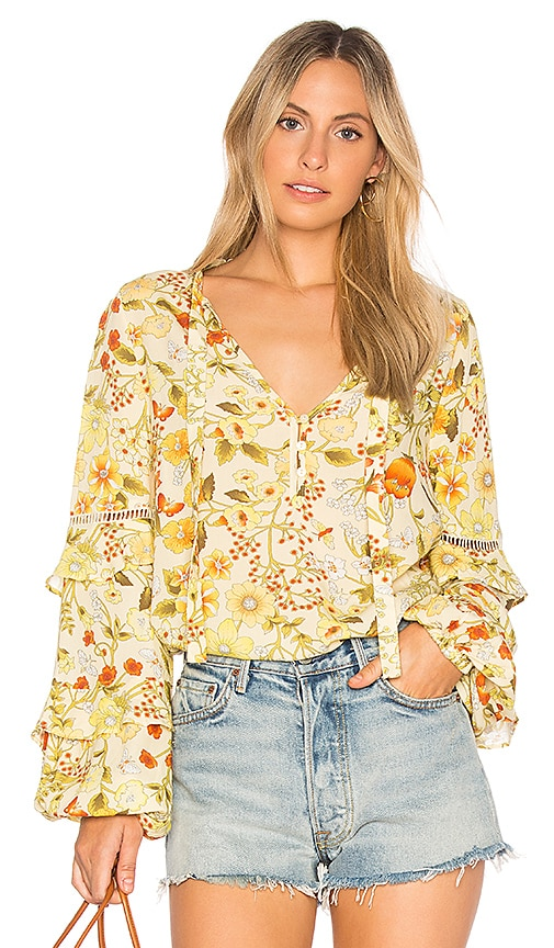 Spell & The Gypsy Collective Sayulita Blouse in Yellow