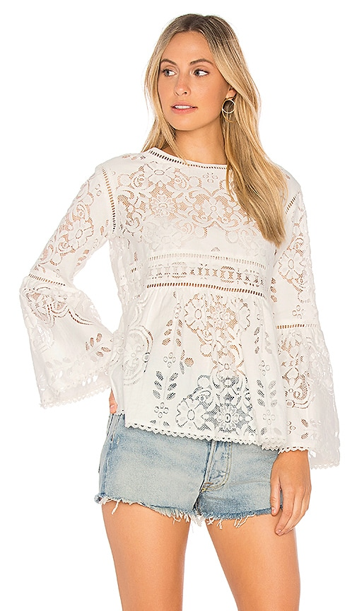 Spell & The Gypsy Collective Clover Lace Blouse in White